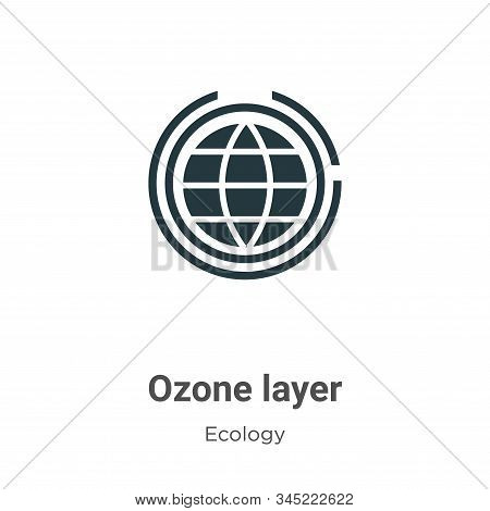 Ozone Layer Vector Icon On White Background. Flat Vector Ozone Layer Icon Symbol Sign From Modern Ec
