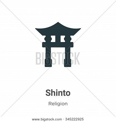 Shinto icon isolated on white background from religion collection. Shinto icon trendy and modern Shi