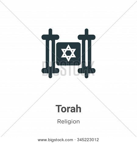 Torah Vector Icon On White Background. Flat Vector Torah Icon Symbol Sign From Modern Religion Colle