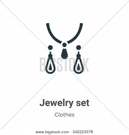 Jewelry set icon isolated on white background from clothes collection. Jewelry set icon trendy and m