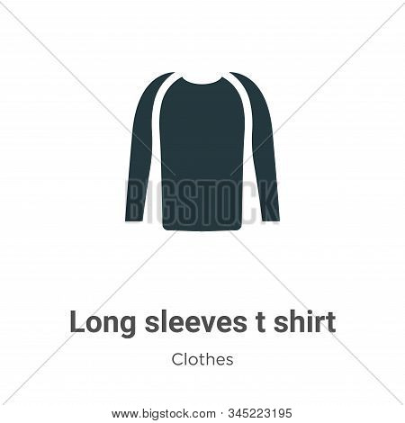 Long sleeves t shirt icon isolated on white background from clothes collection. Long sleeves t shirt
