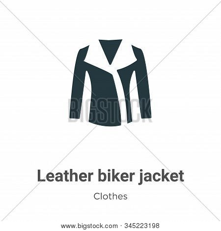 Leather Biker Jacket Vector Icon On White Background. Flat Vector Leather Biker Jacket Icon Symbol S