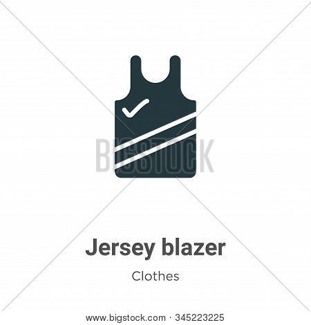 Jersey blazer icon isolated on white background from clothes collection. Jersey blazer icon trendy a