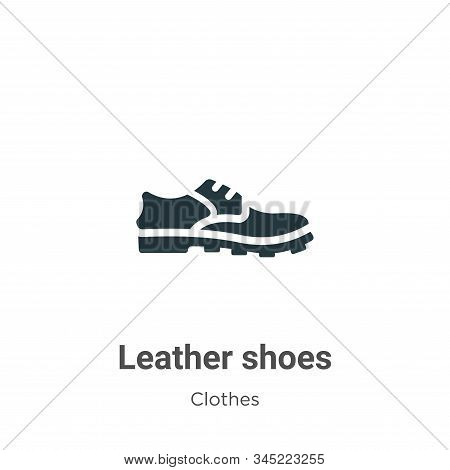 Leather shoes icon isolated on white background from clothes collection. Leather shoes icon trendy a