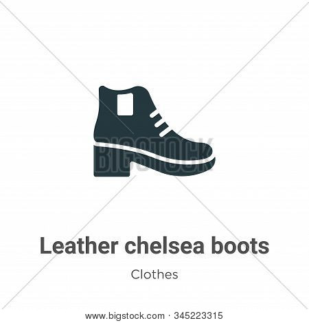 Leather Chelsea Boots Vector Icon On White Background. Flat Vector Leather Chelsea Boots Icon Symbol