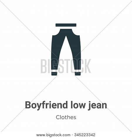 Boyfriend low jean icon isolated on white background from clothes collection. Boyfriend low jean ico