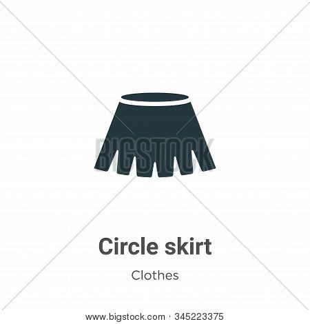 Circle skirt icon isolated on white background from clothes collection. Circle skirt icon trendy and