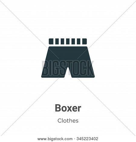 Boxer icon isolated on white background from clothes collection. Boxer icon trendy and modern Boxer