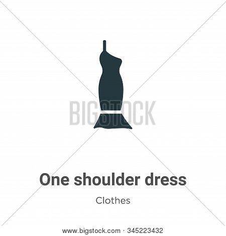 One Shoulder Dress Vector Icon On White Background. Flat Vector One Shoulder Dress Icon Symbol Sign