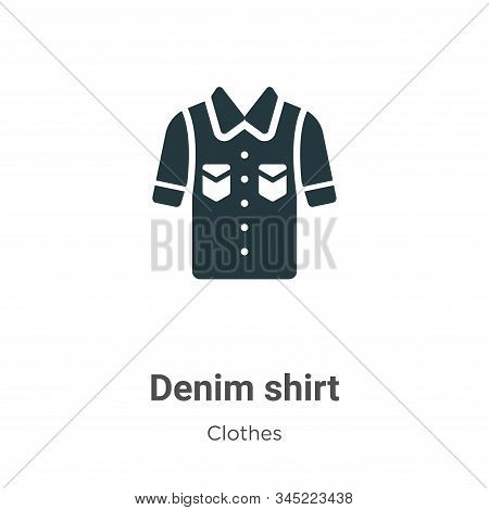 Denim shirt icon isolated on white background from clothes collection. Denim shirt icon trendy and m