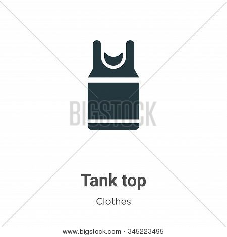Tank Top Vector Icon On White Background. Flat Vector Tank Top Icon Symbol Sign From Modern Clothes