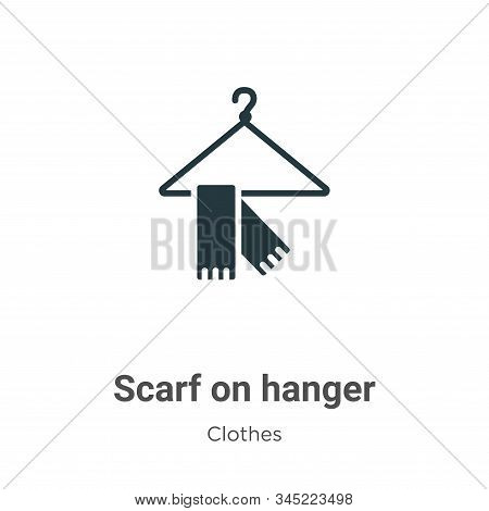 Scarf On Hanger Vector Icon On White Background. Flat Vector Scarf On Hanger Icon Symbol Sign From M