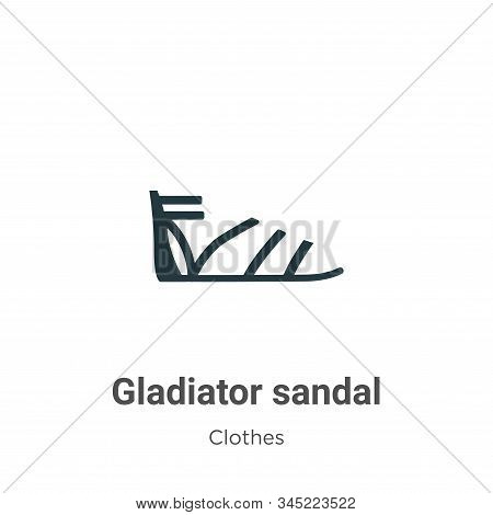 Gladiator sandal icon isolated on white background from clothes collection. Gladiator sandal icon tr