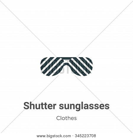 Shutter sunglasses icon isolated on white background from clothes collection. Shutter sunglasses ico