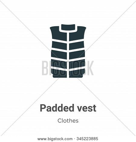 Padded Vest Vector Icon On White Background. Flat Vector Padded Vest Icon Symbol Sign From Modern Cl