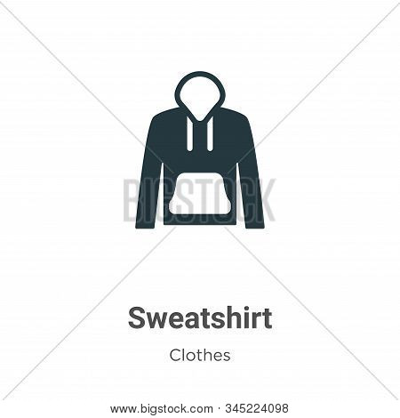 Sweatshirt icon isolated on white background from clothes collection. Sweatshirt icon trendy and mod