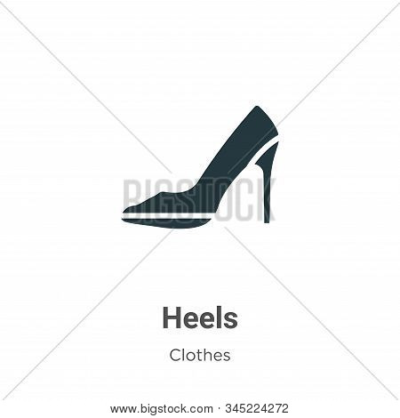 Heels icon isolated on white background from clothes collection. Heels icon trendy and modern Heels