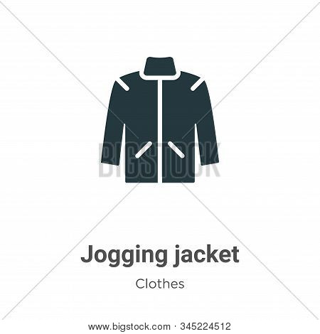 Jogging Jacket Vector Icon On White Background. Flat Vector Jogging Jacket Icon Symbol Sign From Mod