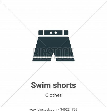 Swim shorts icon isolated on white background from clothes collection. Swim shorts icon trendy and m