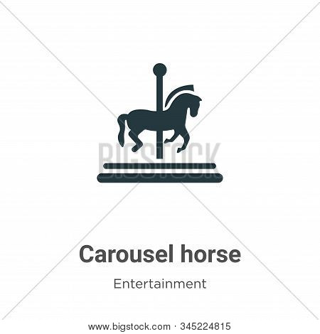 Carousel horse icon isolated on white background from entertainment collection. Carousel horse icon