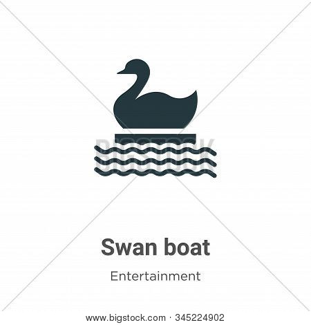 Swan boat icon isolated on white background from entertainment collection. Swan boat icon trendy and