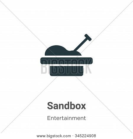Sandbox icon isolated on white background from entertainment collection. Sandbox icon trendy and mod