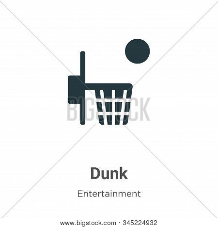 Dunk icon isolated on white background from entertainment collection. Dunk icon trendy and modern Du