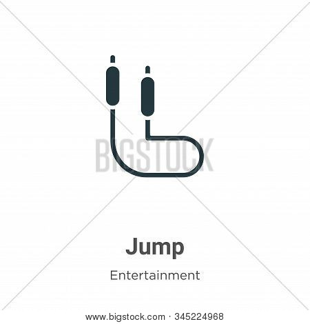 Jump icon isolated on white background from entertainment collection. Jump icon trendy and modern Ju