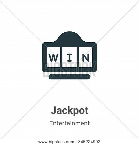 Jackpot icon isolated on white background from entertainment collection. Jackpot icon trendy and mod