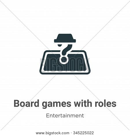Board games with roles icon isolated on white background from entertainment collection. Board games