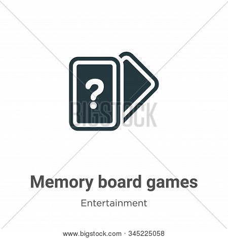 Memory Board Games Vector Icon On White Background. Flat Vector Memory Board Games Icon Symbol Sign
