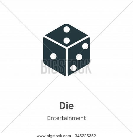 Die Vector Icon On White Background. Flat Vector Die Icon Symbol Sign From Modern Entertainment Coll