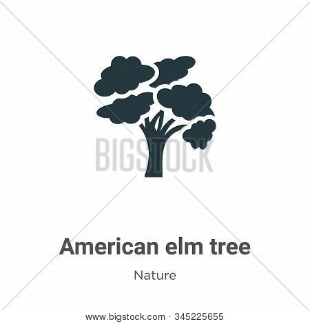 American elm tree icon isolated on white background from nature collection. American elm tree icon t