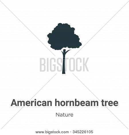 American hornbeam tree icon isolated on white background from nature collection. American hornbeam t