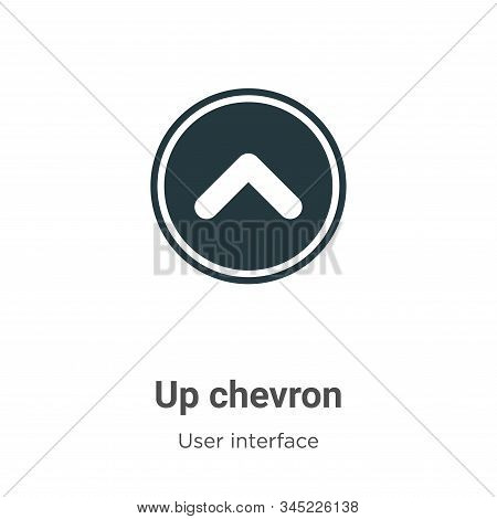 Up Chevron Vector Icon On White Background. Flat Vector Up Chevron Icon Symbol Sign From Modern User