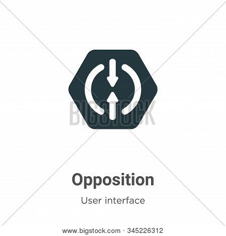 Opposition icon isolated on white background from user interface collection. Opposition icon trendy
