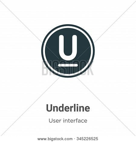 Underline icon isolated on white background from user interface collection. Underline icon trendy an