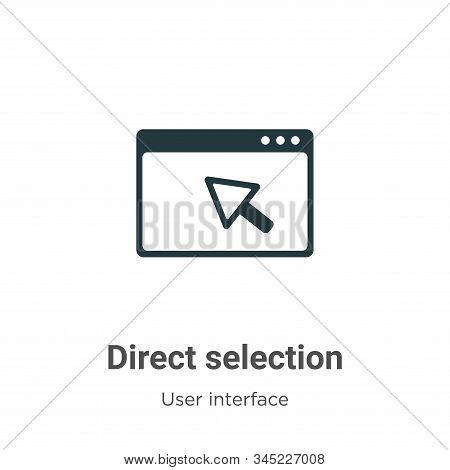 Direct selection icon isolated on white background from user interface collection. Direct selection