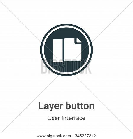 Layer button icon isolated on white background from user interface collection. Layer button icon tre