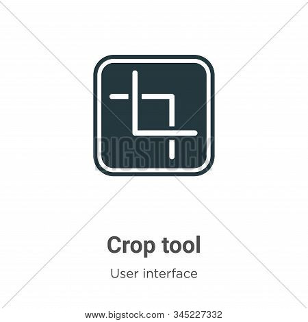 Crop tool icon isolated on white background from user interface collection. Crop tool icon trendy an