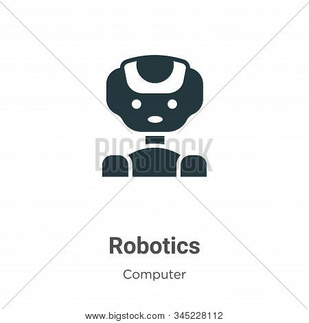 Robotics icon isolated on white background from computer collection. Robotics icon trendy and modern