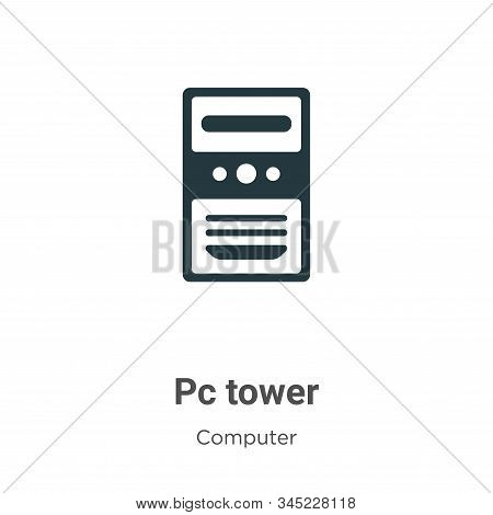Pc tower icon isolated on white background from computer collection. Pc tower icon trendy and modern