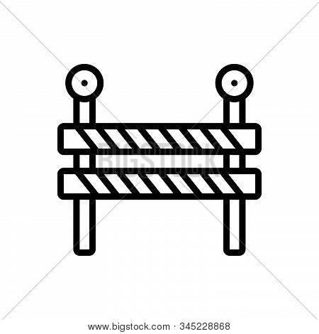 Black Line Icon For Impediment Obstacle Obstruction Hindrance Interrupt Hindrance