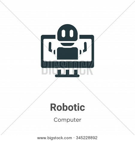 Robotic icon isolated on white background from computer collection. Robotic icon trendy and modern R