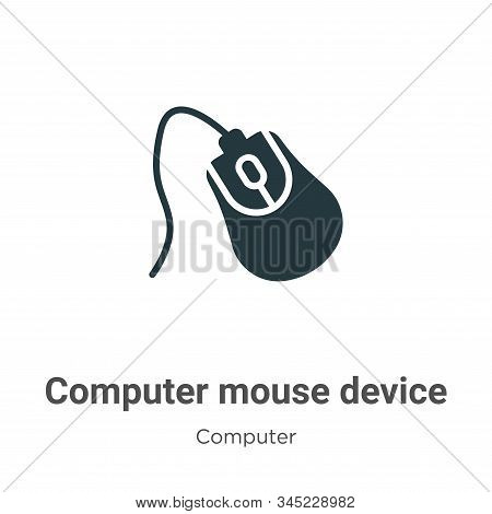 Computer mouse device icon isolated on white background from computer collection. Computer mouse dev