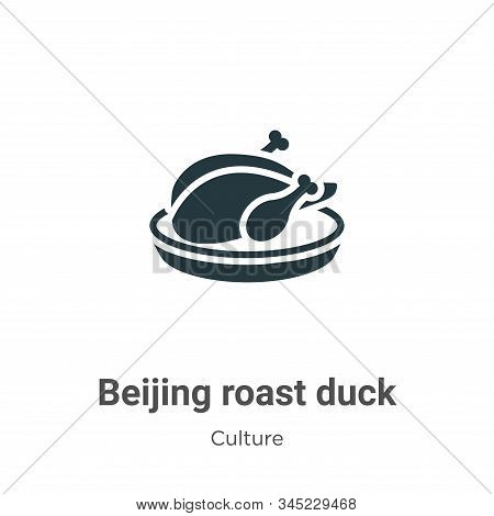 Beijing roast duck icon isolated on white background from culture collection. Beijing roast duck ico