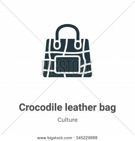 Crocodile leather bag icon isolated on white background from culture collection. Crocodile leather b