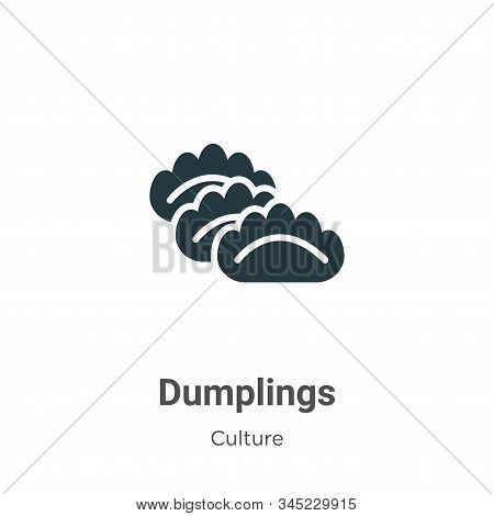 Dumplings icon isolated on white background from culture collection. Dumplings icon trendy and moder