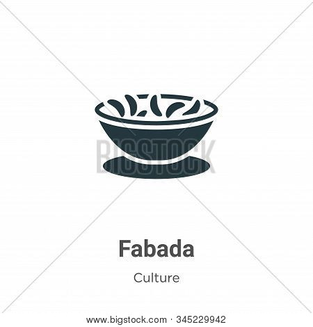 Fabada icon isolated on white background from culture collection. Fabada icon trendy and modern Faba
