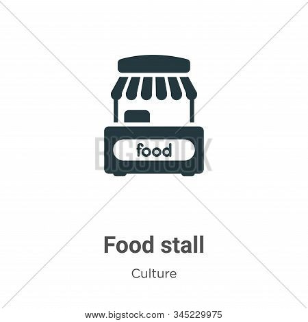 Food stall icon isolated on white background from culture collection. Food stall icon trendy and mod